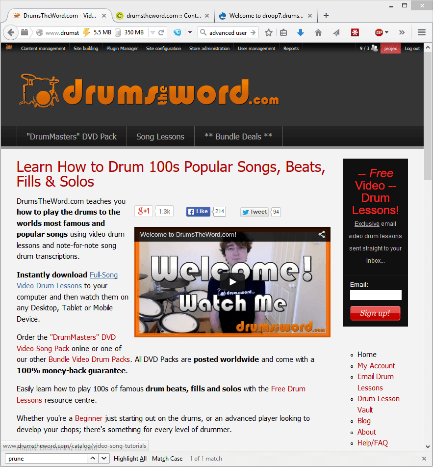 drum website in drupal6