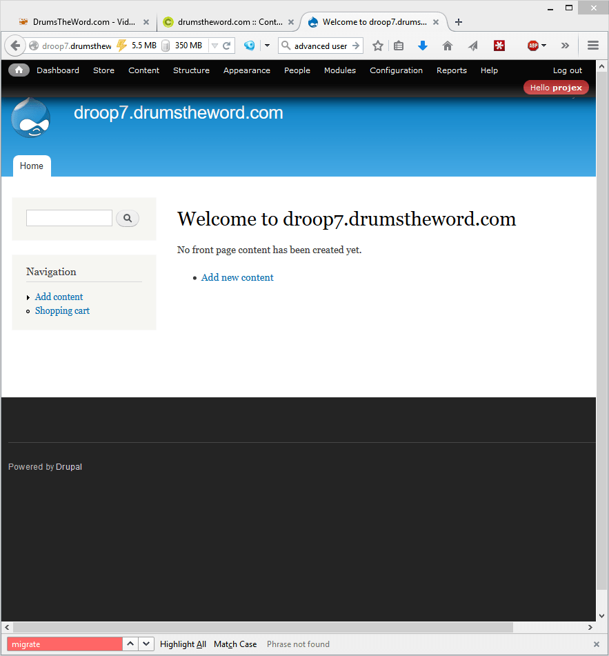 Upgrade Drupal 6 to 7 - Part2 Setup Drupal 7 website empty and ready to receive 1