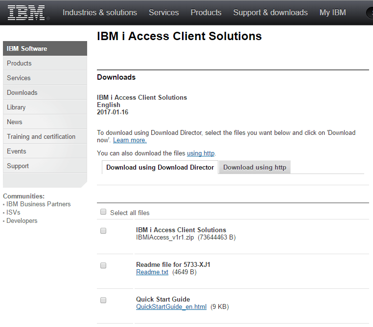 Download and Install IBM i ACS (Access Client Solutions