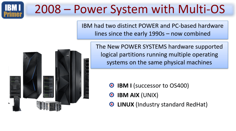 IBM i Primer - From the AS400 to ISERIES to IBM i 2