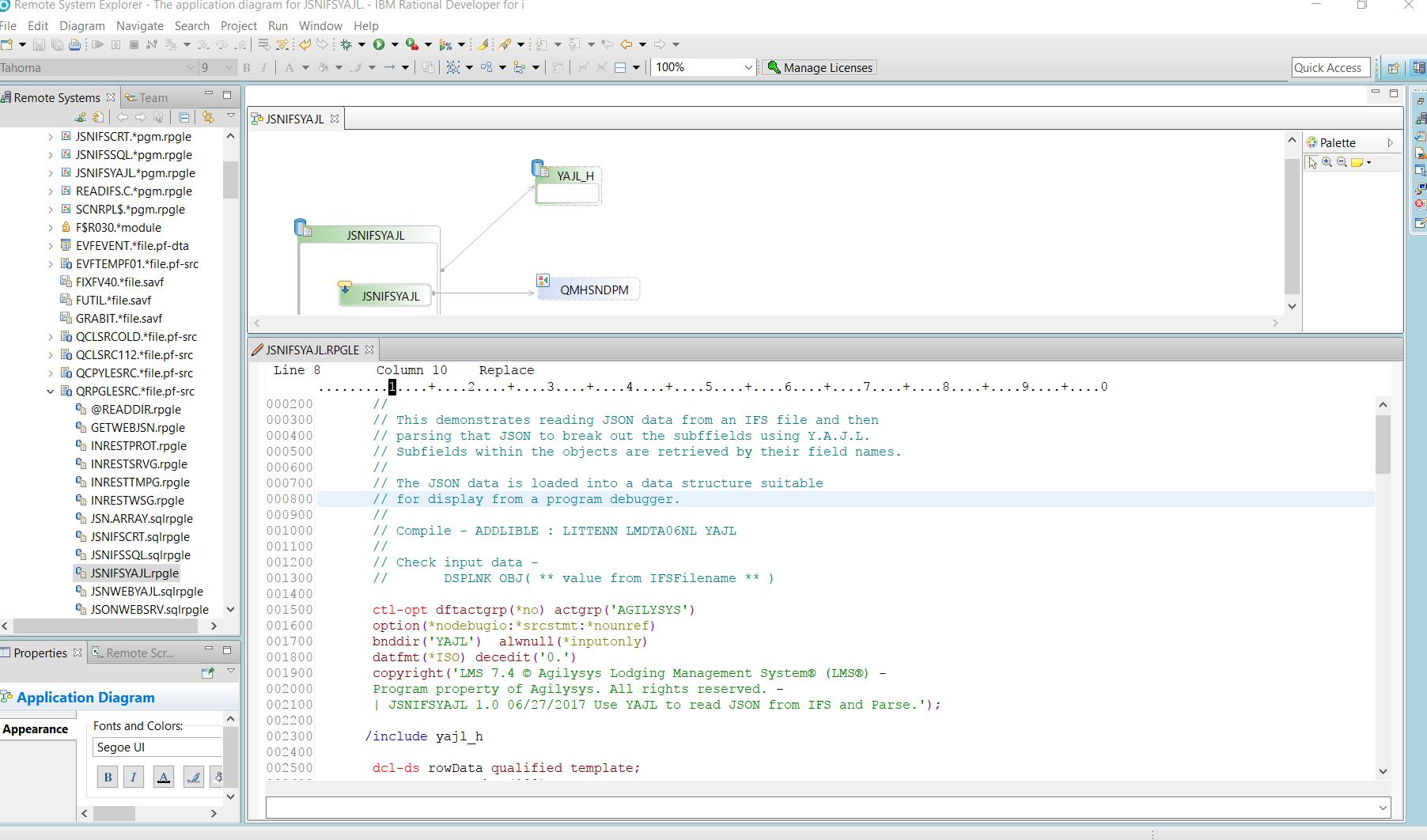 Writing RPG program code using SEU getting error -