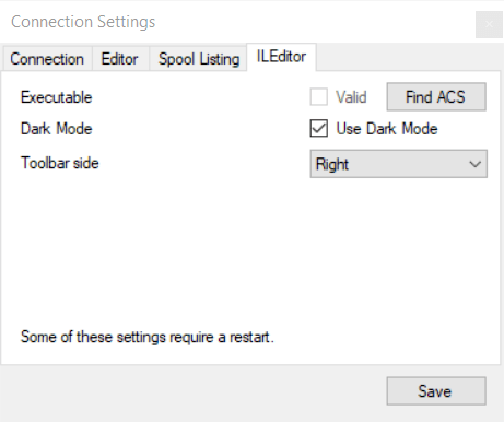 ILEditor host select detail dark - Free RPG Editor - ILEDITOR could be called RDi Lite ;)
