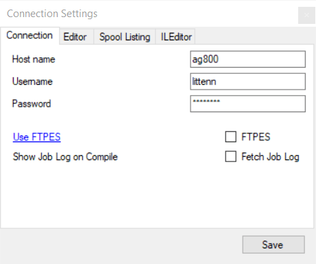 ILEditor host select detail - Free RPG Editor - ILEDITOR could be called RDi Lite ;)