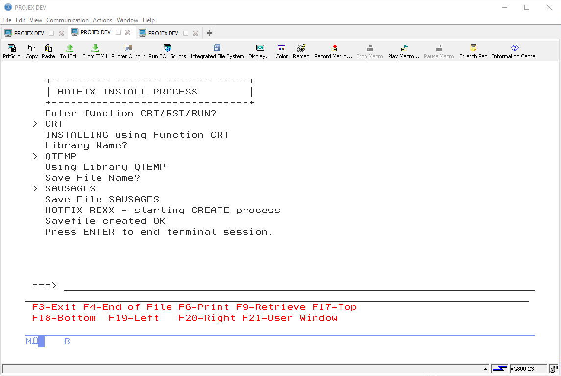 Playing with REXX on IBM i 2