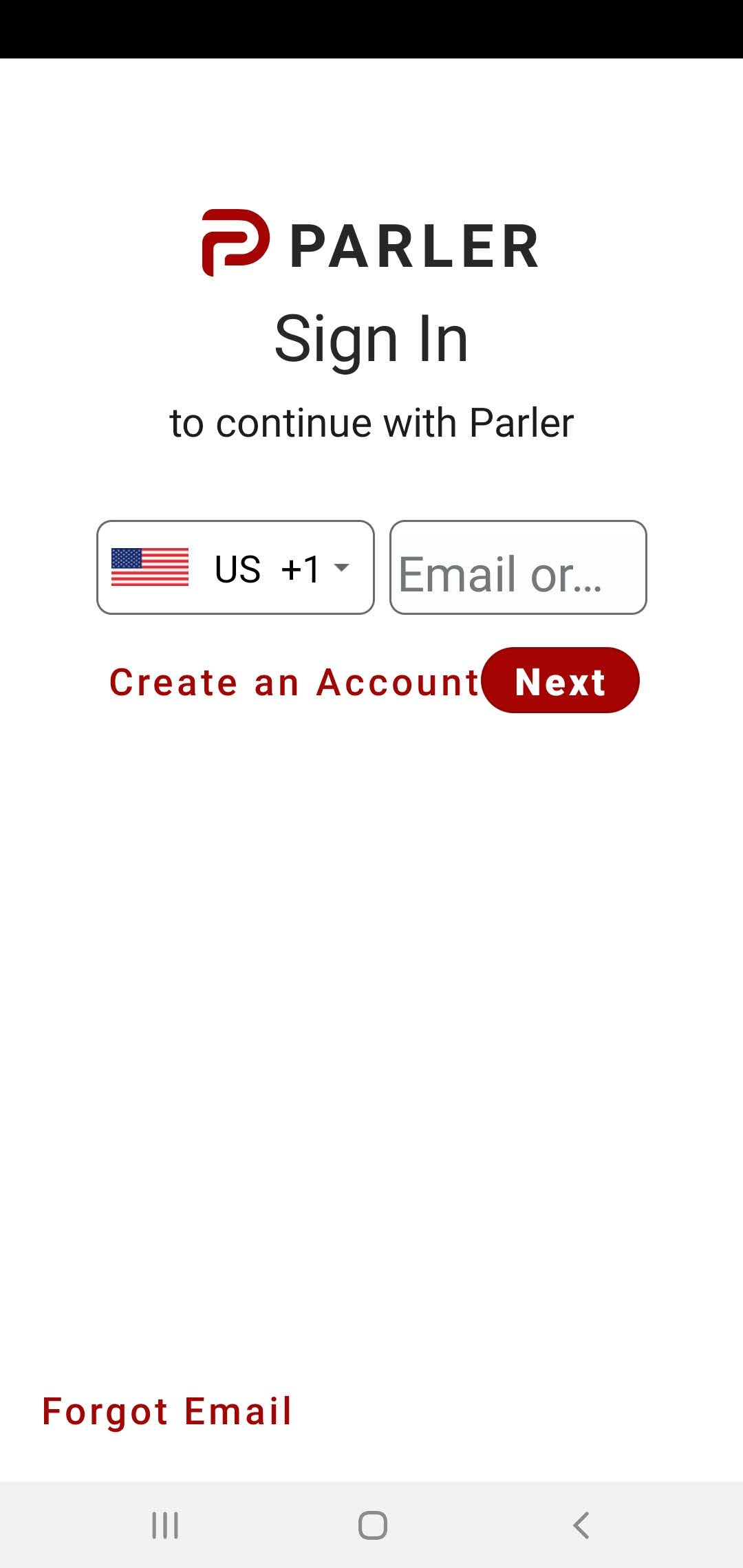 Using PARLER after download XAPK