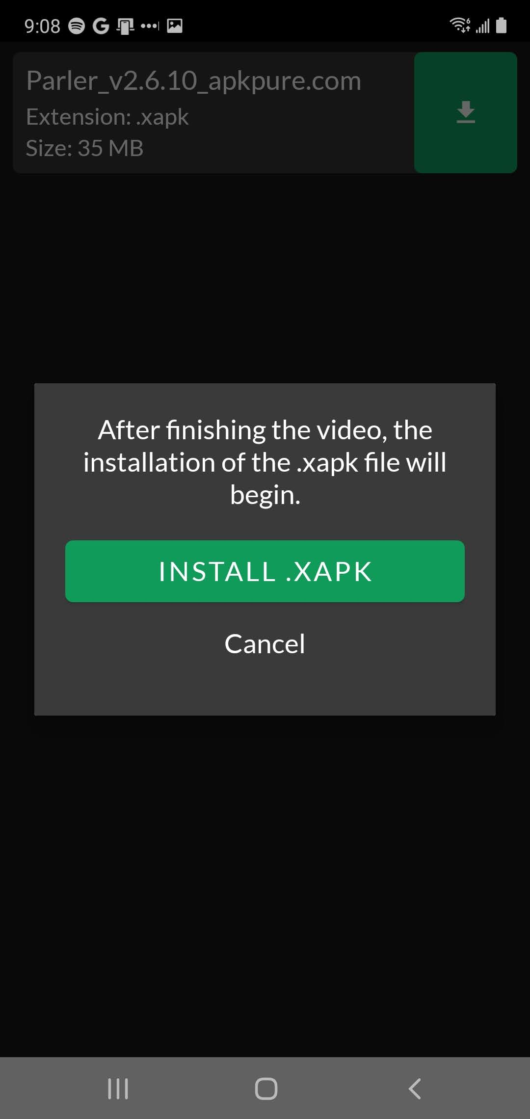 install parler XAPK