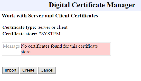 dcm system Work with Server and Client Certificates - Playing with Secure (SSL) FTP on IBM i Power System