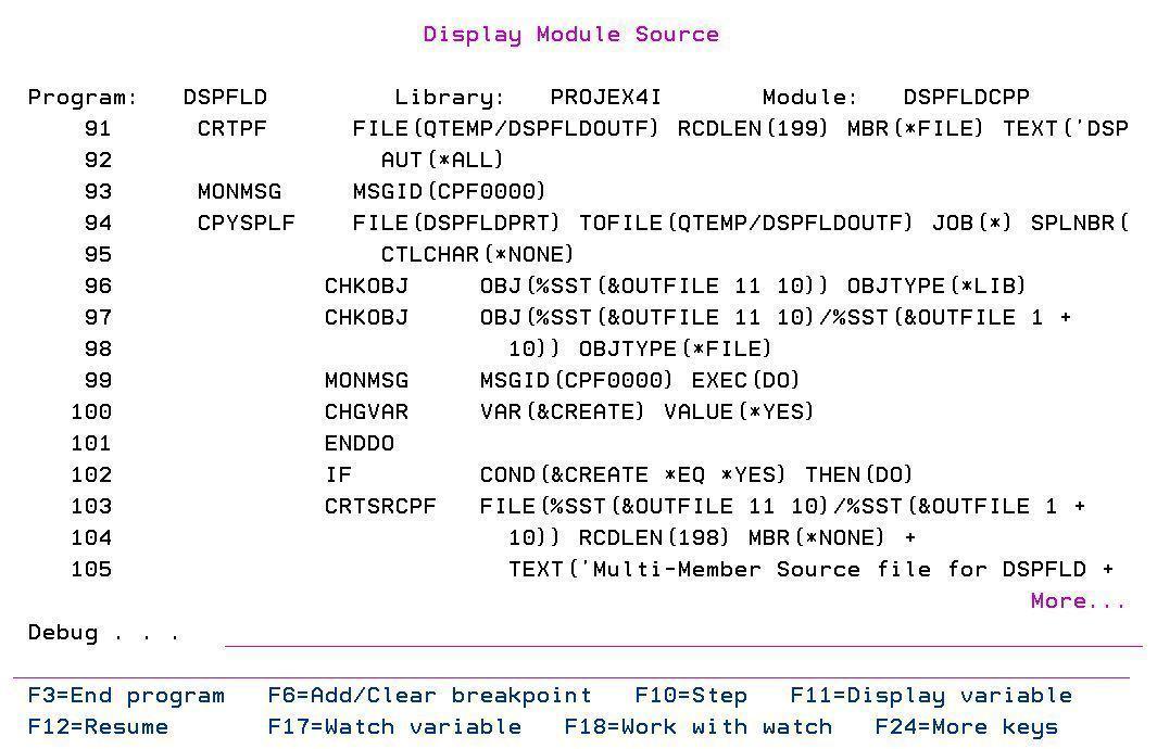 How to encrypt or hide CL/RPG Source Code in ILE Debug Views 1