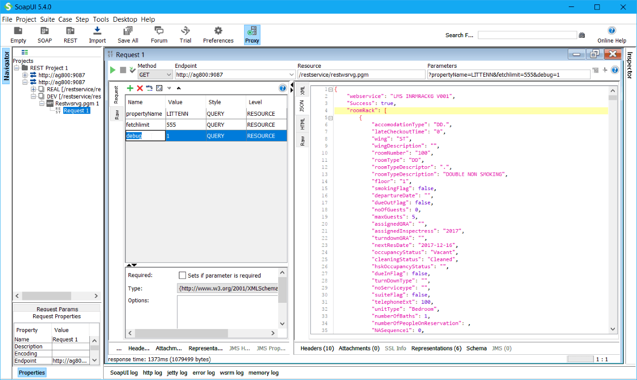 Programming standards for debugging RPG Webservices