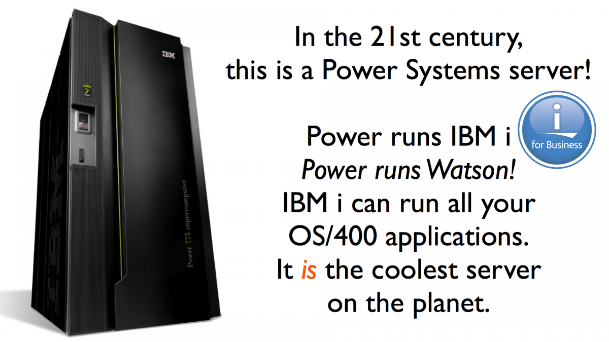 IBM i on Power is the coolest server of the 21st century