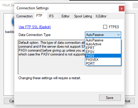 ILEditor connection problem with PUB400 2