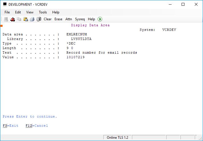 Updating Numeric DTAARA in RPGLE 2