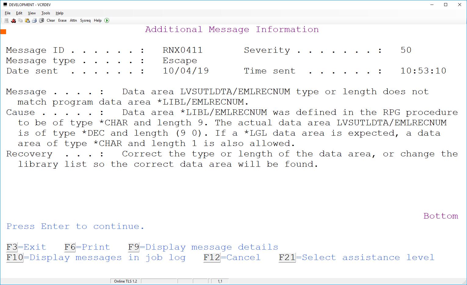Updating Numeric DTAARA in RPGLE 3