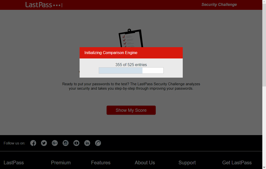 lastpass blackmail security check