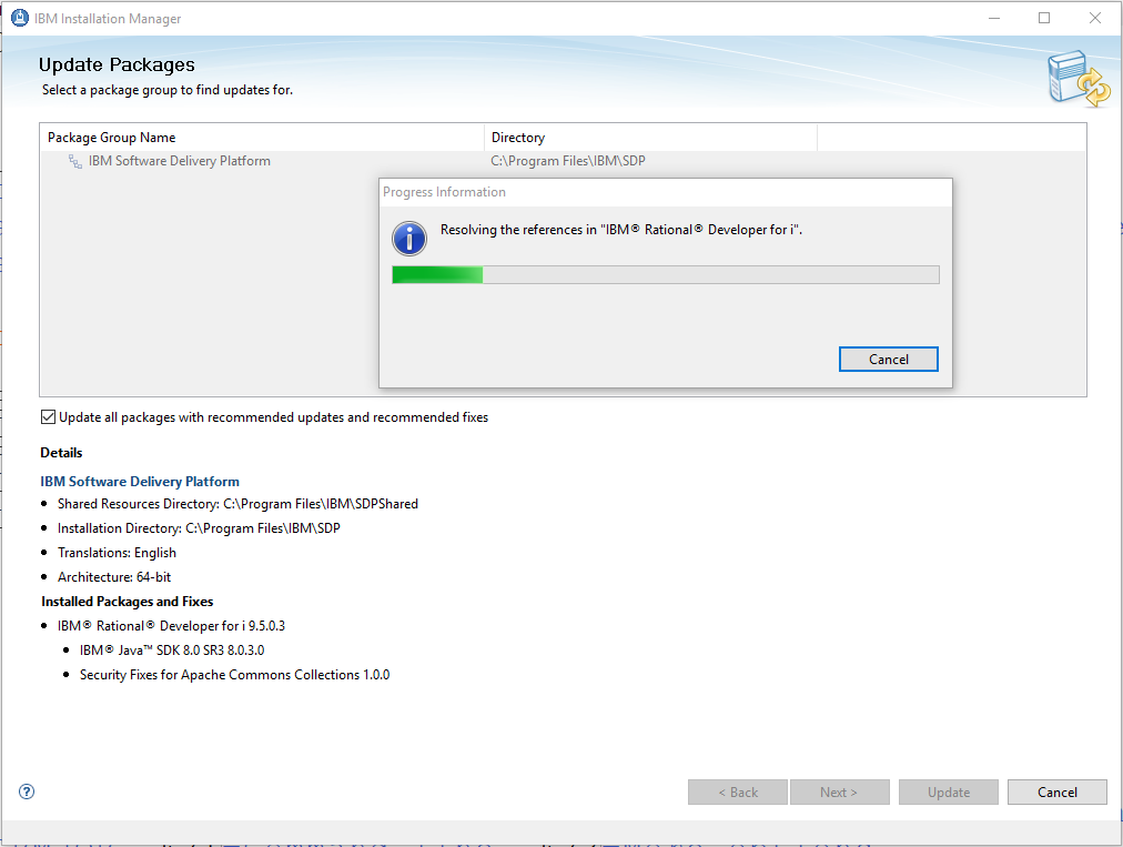 Disable RPGLE 'live parsing' using Rational Developer (IBM