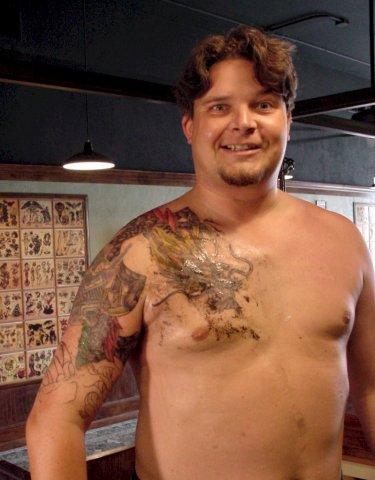 tattoo in progress 2002