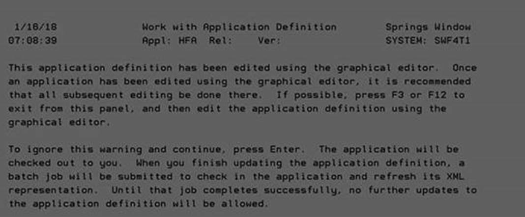 turnover graphical editor error message